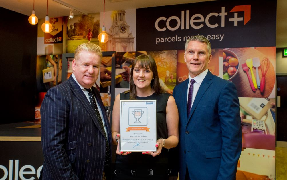 trinity leeds wins CollectPlus award