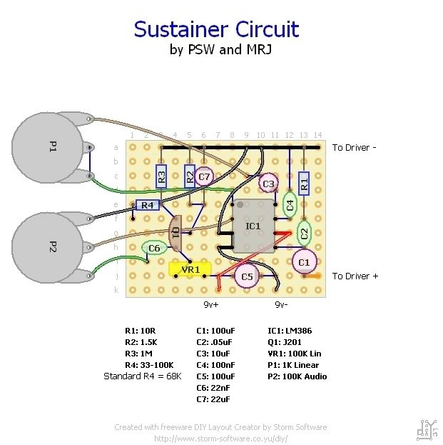 Homemade Sustainer Electronics Chat Projectguitarcom
