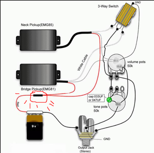 emg pickup wiring wiring diagram for dvc subwoofer