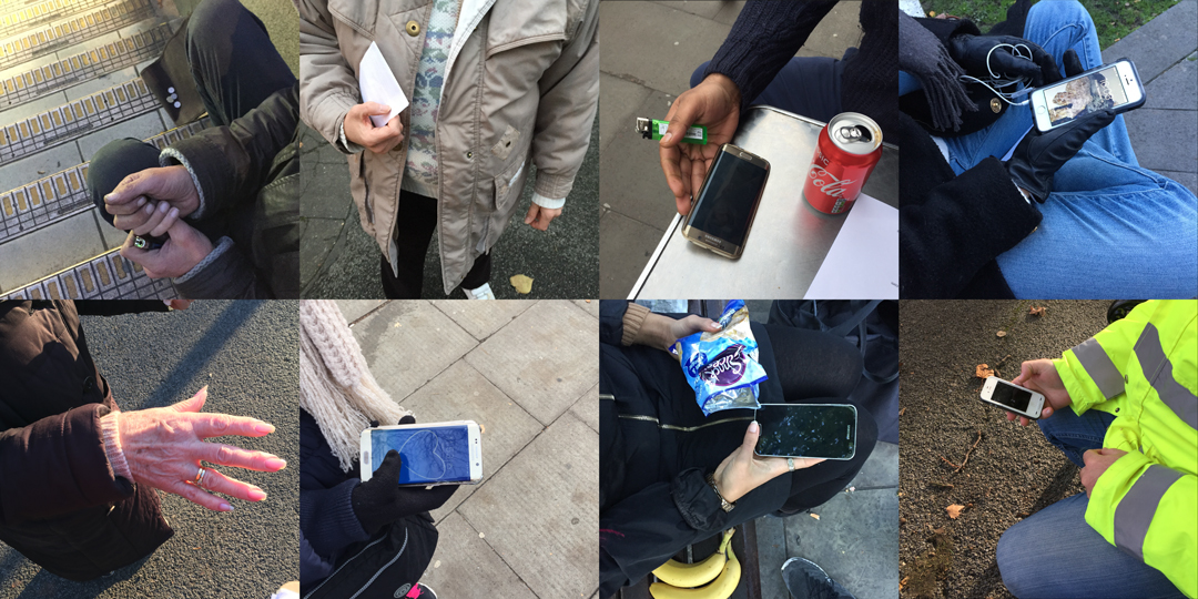 Various people with the phone they have