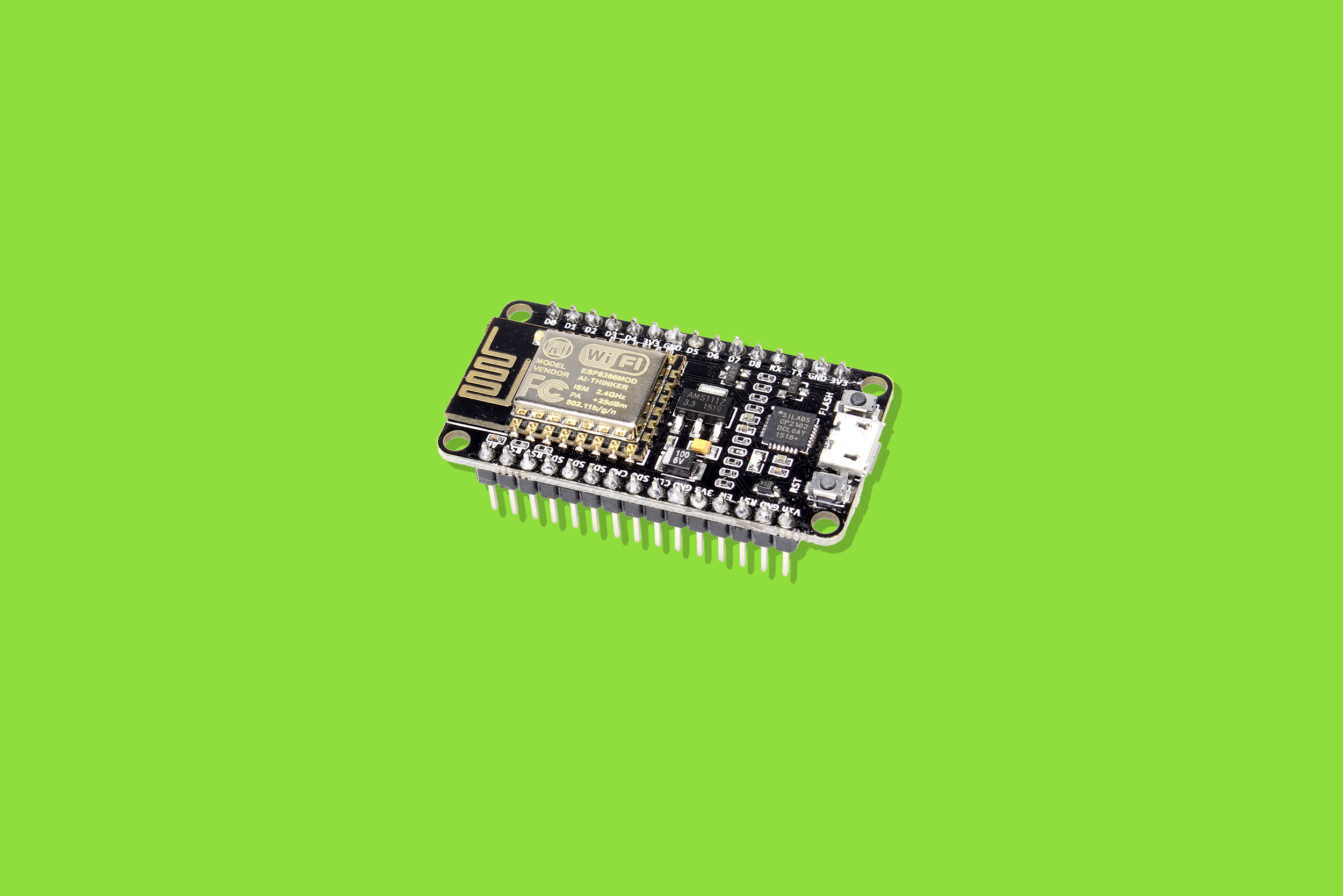 An ESP8266 microcontroller