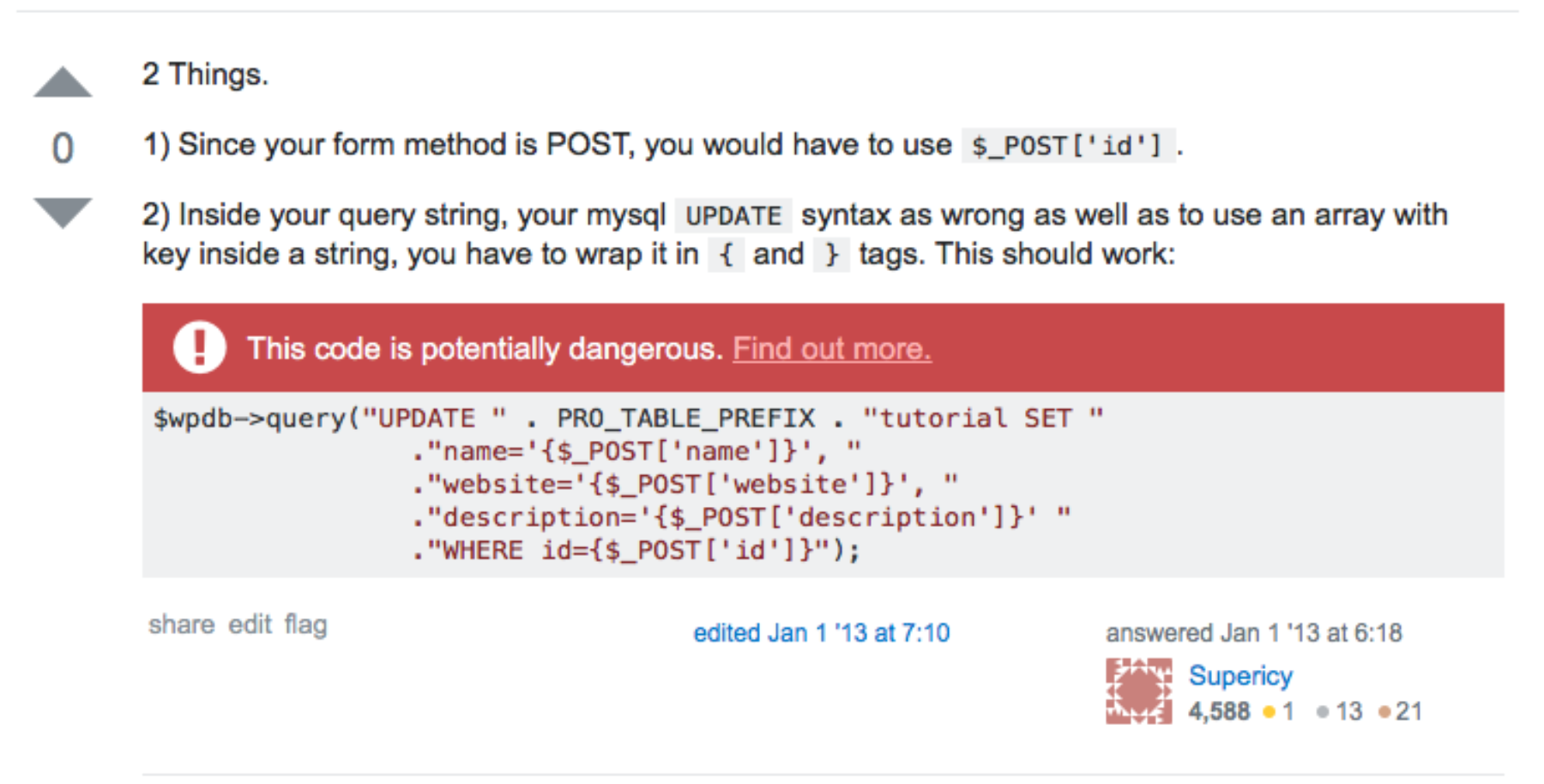 Stack Overflow Answer 2