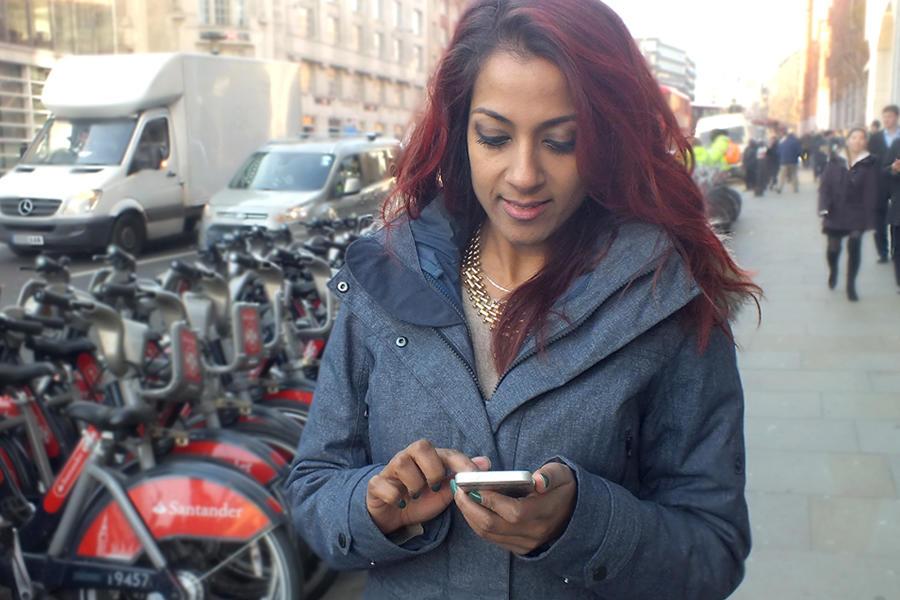 Priya On Her Phone Double
