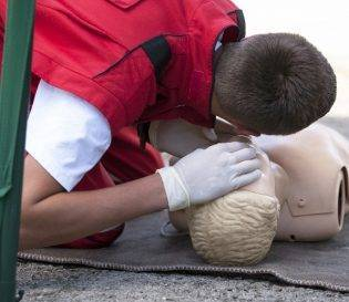 Emergency first aid at work and first aid at work training