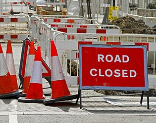 NRSWA streetworks signs, road closed signs, NRSWA courses in Northampton