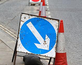 NRSWA street works sign - NRSWA courses in Northampton