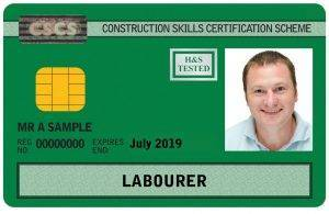 Sample CSCS green labourers card - Project Skills Solutions