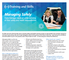 IOSH Managing Safely Fact sheet information