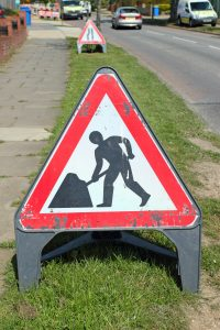 Road works sign - Streetworks courses in Pulborough