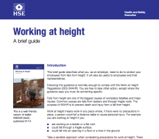 A brief guide on working at heights from the HSE.