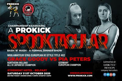 Goody Vs Peters - Fight fans, will be in for a treat when Grace, 18 year-old squares-up against the current WKN European champion, Pia Peters of Hamberg Germany. It will all happen on the 31st October at the Stormont hotel in Belfast