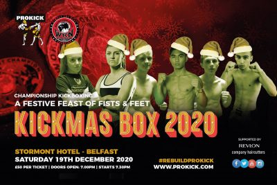 The KICKmas Fight-card - Kickboxing fans didn't get their Halloween treat, but instead will jump straight to an early Christmas present. The event has been rescheduled to December 19 under the famed KICKmas banner.