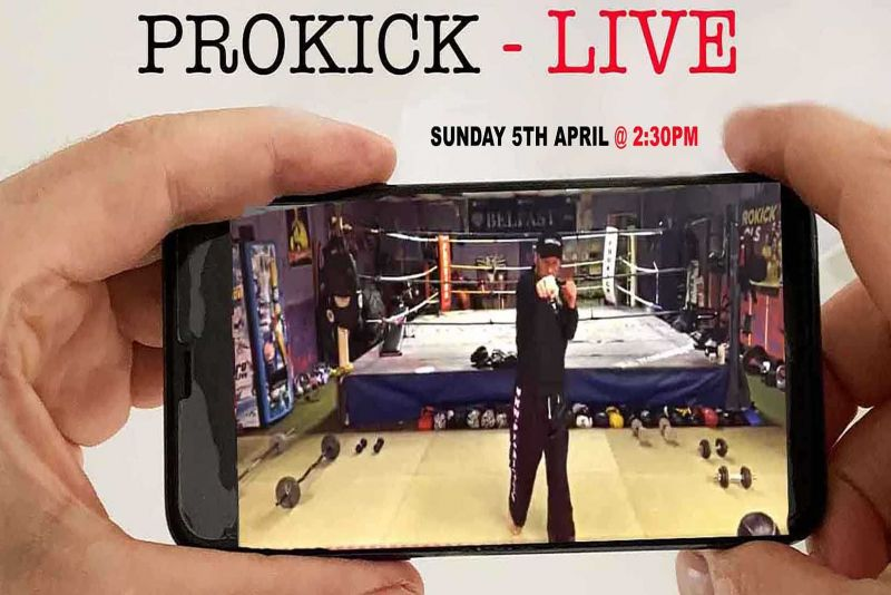 Hopefully you can join us for a LIVE 30 minute private ProKick fitness session by #BillyMurray - Join us TODAY Sunday 5th April for our next LIVE class @ 2:30pm