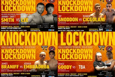 SEVEN Weeks until #KnockdownLockdown it's the Final Countdown until World championship kickboxing is back in Belfast. This long anticipated card is on Sunday 12th September at the Stormont hotel, Belfast
