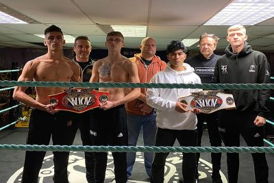The weight is completed for tomorrow's Fight-Club #KnocdownLockdown - Both matches weighed in under the championship weight.