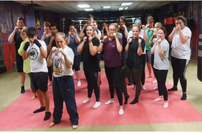 pictured are the latest squad of wannabe ProKick Kickboxers. The New Beginner's course kicked off on Monday 9th August 2021 at 6pm and of course at the #ProKickGym.