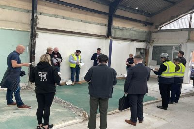 The building contractors William Rogers Construction have now been appointed and were on-site to meet the rest of the team.