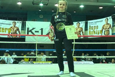 Grace Goody, from Lisburn, was crowned K1 amateur kickboxing champion in Tokyo on the 15th March 2020