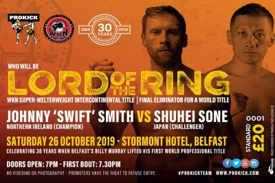 LORD OF THE RING: Get your limited tickets, so don't be left out on one of the best value for money fight shows in the country.  Tickets:  Standard at £20 Ringside SOLD-OUT