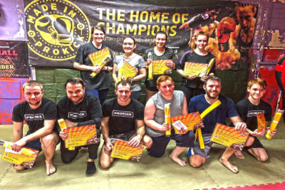 A Yellow Grading grading: #Sunday 04th November 2016 - it was #graduation day for some at the #ProKickGym in #eastBelfast for the #enthusiastic #Kickboxing #students .