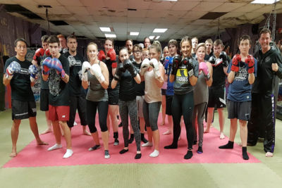 Beginners finish 6-weeks of kickboxing at ProKick Gym on 13th AUG 2018
