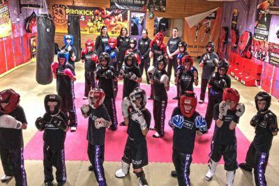 The first new ProKick Kids sparring class of 2018