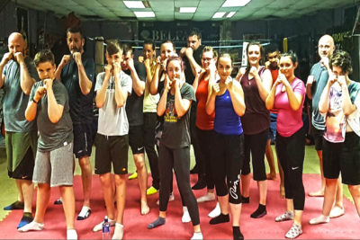 Pictured here are the new squad of high kicking kickboxing beginners who all started at the ProKick Gym on Thursday June 7th at 8:15pm. T