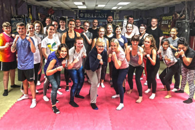 A new ProKick kickboxing beginners course kicked-off at the ProKickGym on Monday 22nd Oct 2018.