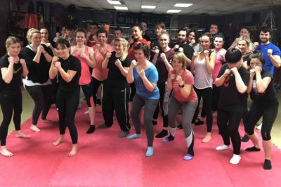 Pictured a new squad of high kicking kickboxing beginners who all started at the ProKick Gym on Thursday April 12th at 8:15pm.