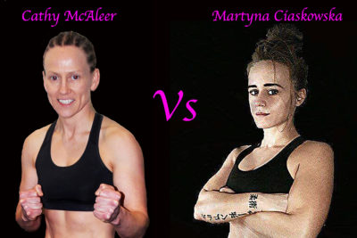 Cathy Mc Aleer Vs Martyna Ciaskowska at the Stormont Hotel on the 17th FEB 2018