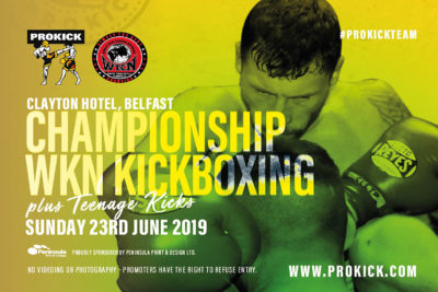 Order you tickets for the #ProKick International & Championship event at the #ClaytonHotelBelfast TODAY Sunday the 23rd June 2019. The event will see #billyMurray & his #ProKickTeam stage a Sunday afternoon Fight-Show not to be missed.