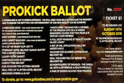 ProKick Members, If you can help by way of taking a couple of ballot books to sell to friends & family. #RebuildProKick