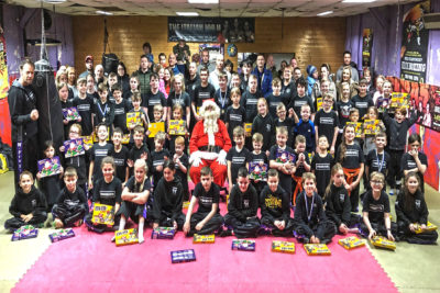This was the 27th year the BIG MAN himself 'Santa Claus.' called to say hello to the Kicking MAD kids at the esteemed kickboxing gym in Belfast. It all happened DEC 22nd 2018.