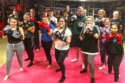 ProKick New Beginners Finished 6Weeks of kickboxing 19th Feb 2018