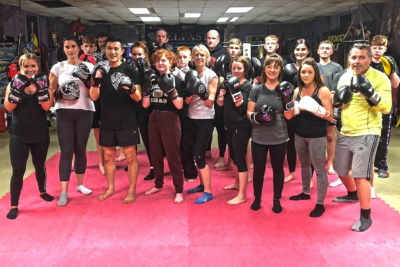 The Monday night class were put through a tough basic pad session on Monday 1st October 2018.