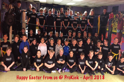 Happy Easter From the ProKick Kids Class on Saturday 31st March 2018