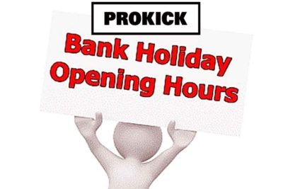 ProKick Gym is Open Bank Holiday Monday 7th May 2018