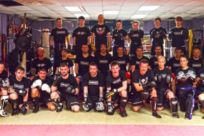 Beginners ProKick Sparring class pictured here 14th March 2018