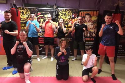 Getting back to a new normal - This was the FIRST new squad of wannabe kickboxers to come through the doors at the ProKick from when Covid-19 hit and closed down NI. This new ProKick 6-week course started on the 16th July 2020