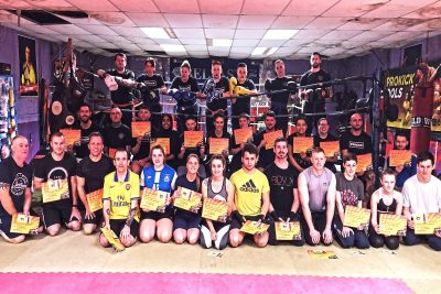 Grading Day 15Th Dec 2019 ProKick members from raw novice right up senior brown Belts achieved their next levels and for some, the hard work really starts now.