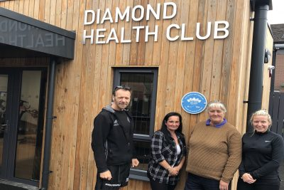 'The Diamond Health Club' We at ProKick, had the opportunity to view the project today and were very impressed with the whole project - Picture: L-R Billy Murray, Karlene McCann, Margie Browning & Brooke Murray