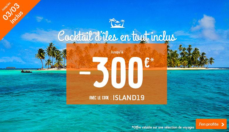 Cocktails d'îles en tout inclus