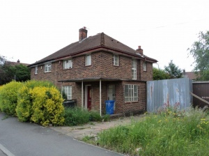 Older style three bedroomed semi detached house