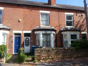 Three bedroomed three storey property in need of full upgrading and improvement