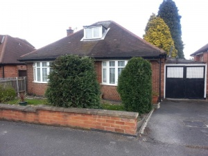 Two bedroomed detached bungalow with attic room