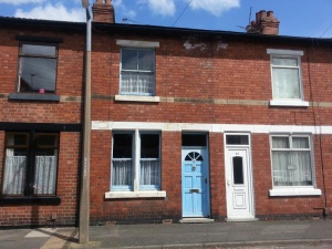 Two bedroomed terraced house in need of full upgrading, modernisation and improvement