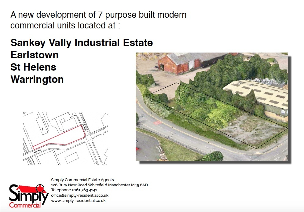 PLOT 2 Industrial unit for sale at Unit 2 Sankey Vally Industrial Estate Earlstown St Hele