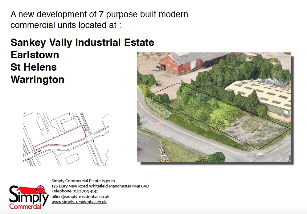 PLOT 3 Industrial unit for sale at Unit 3 Sankey Vally Industrial Estate Earlstown St Hele