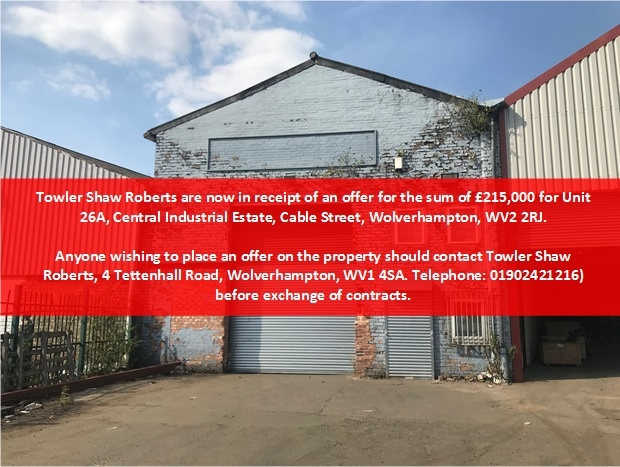 Unit 26a Central Trading Estate, Cable Street, Wolverhampton, West Midlands