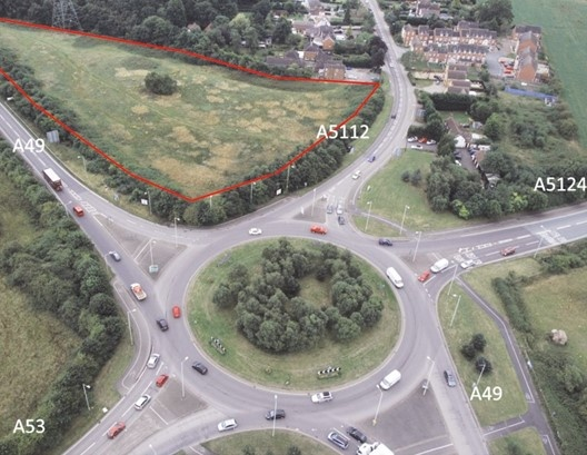 Land At Battlefield Roundabout, Shrewsbury, Shropshire